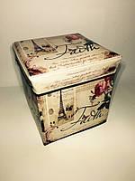 Коробка-Пуфик складной Эйфелева башня