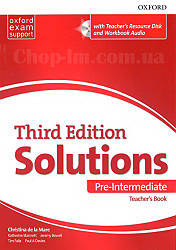 Solutions Third Edition Pre-Intermediate Teacher's Book with Teacher's Resource Disc and Workbook Audio