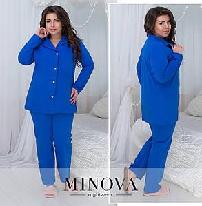 Пижама в больших размерах в расцветках (0030-824)