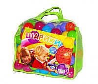Шарики ( Кульки) игровые для палаток, сухих бассейнов на 60 мм 100 штук в сумке