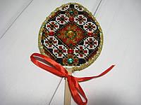 Писанка вышитая бисером для пасхального декора и корзинки, фото 1