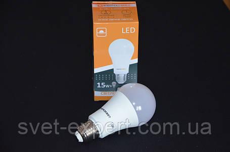 Светодиодная лампа Евросвет A-15-4200-27 15W 4200K E27 220V, фото 2