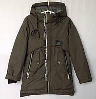 """Куртка подростковая демисезонная """"Sheng Yuan"""" #LJ-008 для мальчиков. 8-9-10-11-12 лет. Серо-зеленая. Оптом., фото 1"""