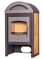 Отопительная печь-камин длительного горения FLAMINGO MELAND (орех)