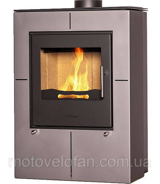 Отопительная печь-камин длительного горения FLAMINGO EVENES (серый)