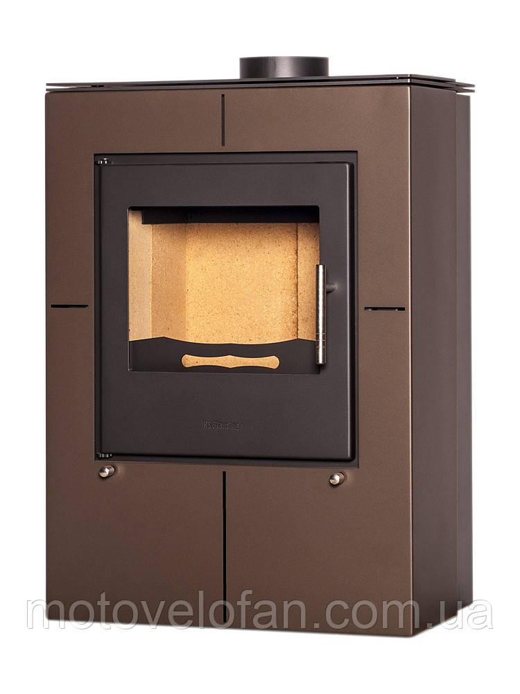 Отопительная печь-камин длительного горения FLAMINGO EVENES (коричневый бархат)