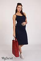 Облегающий сарафан для беременных и кормления NITA SF-28.111, синий