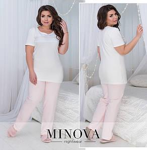 Пижама в больших размерах в расцветках (0030-826)