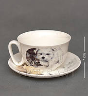 Чашка с блюдцем WAB-02-3