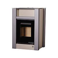 Отопительная печь-камин длительного горения AQUAFLAM VARIO LEND (водяной контур, коричневый бархат), фото 1
