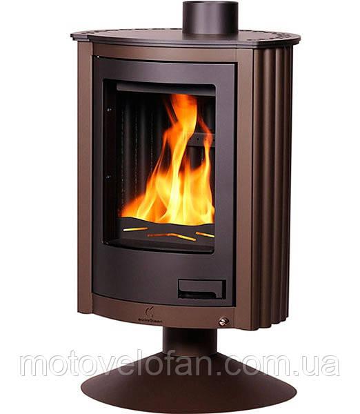 Отопительная печь-камин длительного горения Masterflamme Piccolo II (коричневый бархат)