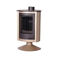 Отопительная печь-камин длительного горения Masterflamme Piccolo II (кремовый металлик), фото 1