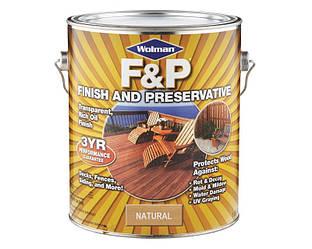 Масло с воском антисептическое WOLMAN F&P атмосферостойкое 3,78л