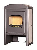Отопительная печь-камин длительного горения FLAMINGO VEGA (белый дуб), фото 1