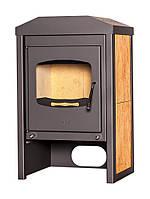 Отопительная печь-камин длительного горения FLAMINGO VEGA (орех), фото 1