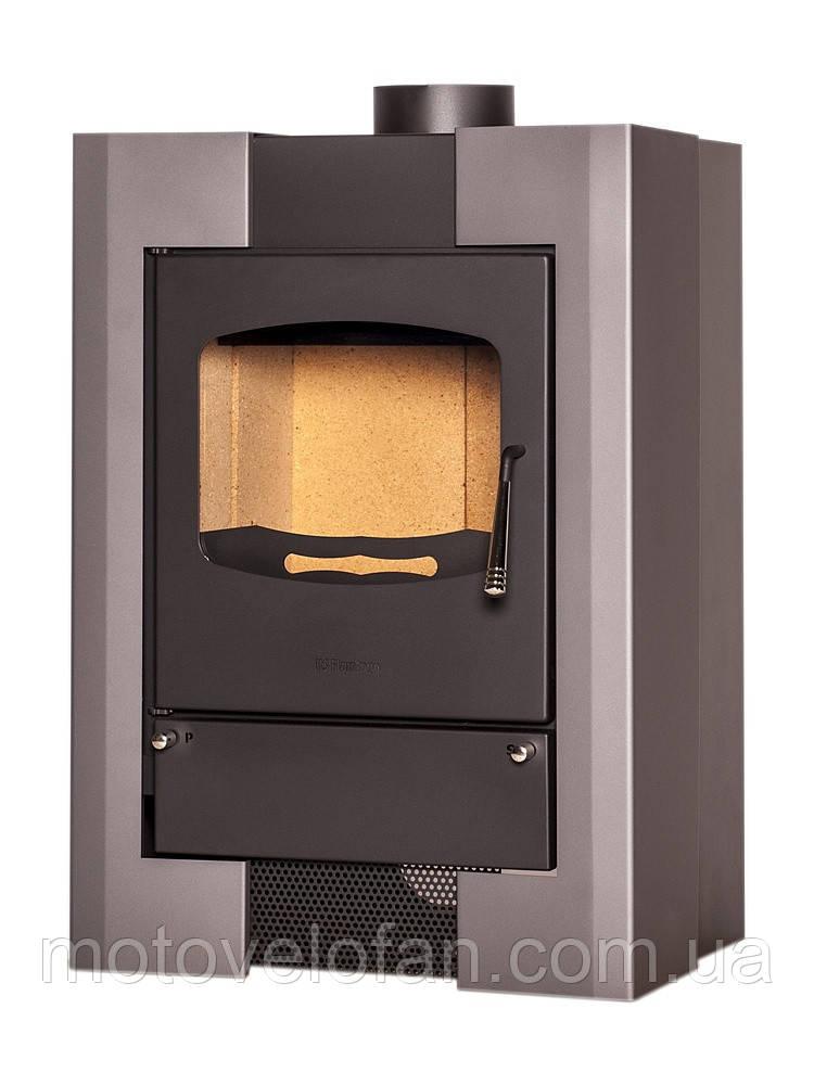 Отопительная печь-камин длительного горения FLAMINGO ESPO I (серый)