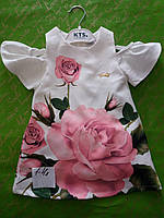 Платье для девочки на 1-4 лет розы оптом