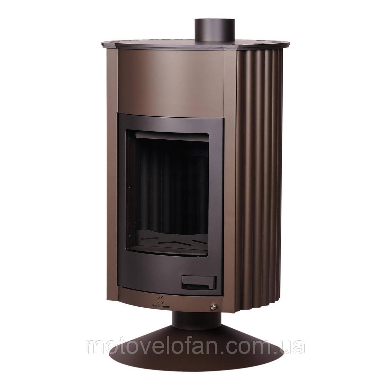 Отопительная печь-камин длительного горения Masterflamme Grande II (коричневый вельвет)