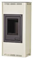 Отопительная печь-камин длительного горения AQUAFLAM 7 (водяной контур, полуавтомат, кремовый), фото 1