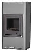 Отопительная печь-камин длительного горения AQUAFLAM 17 (водяной контур, ручная рег, серый), фото 1