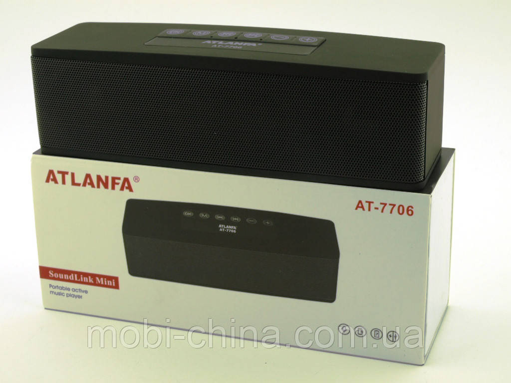 Bose SoundLink Mini Review, Atlanfa AT-7706, портативная колонка с MP3 Bluetooth FM, копия, черная
