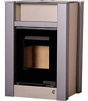 Отопительная печь-камин длительного горения AQUAFLAM VARIO LEND (коричневый бархат), фото 1