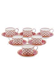 Чайный набор из костяного фарфора на 6 персон ''Элегантность'' (Eleganza Pavone) JK-87