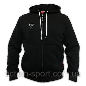 Мужская теплая кофта на молнии с капюшоном Dinamo Titar черная