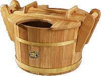Запарник 23 л дубовый для бани и сауны