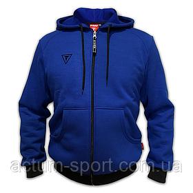Мужская теплая кофта на молнии с капюшоном Dinamo Titar синяя
