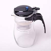 Заварочный чайник с кнопкой 600 мл (типод, Гунфу) Kamille стеклянный (заварник)