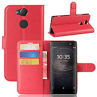 Чехол Sony XA2 / H4113 / H4133 / H3113 / H3123 / H3133 книжка PU-Кожа красный
