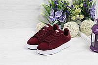 Кроссовки женские Adidas Stan Smith, код 4923 бордовые, фото 1