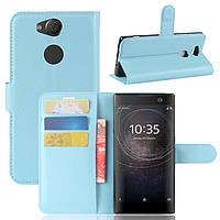 Чехол Sony XA2 / H4113 / H4133 / H3113 / H3123 / H3133 книжка PU-Кожа голубой