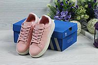 Кроссовки женские Adidas Stan Smith розовые (Реплика ААА+)