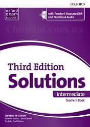 Solutions Third Edition Intermediate Teacher's Book with Teacher's Resource Disc and Workbook Audio