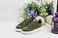 Кроссовки женские Adidas Stan Smith, код 4920 темно зеленые