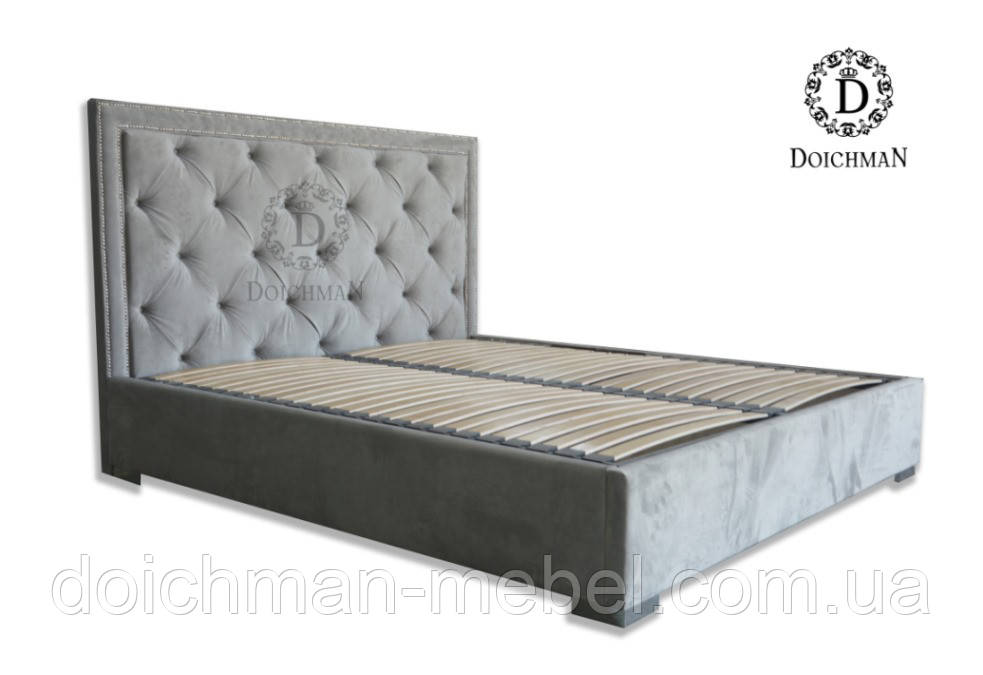 Кровать для спальни с мягким изголовьем по индивидуальному проекту