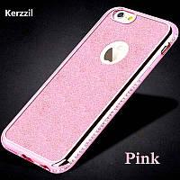 Чехол со стразами розовый сияющий 6/6S iPhone, фото 1