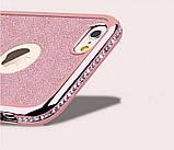 Чехол со стразами розовый сияющий 6/6S iPhone, фото 2