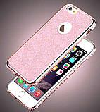 Чехол со стразами розовый сияющий 6/6S iPhone, фото 3