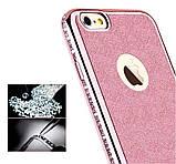 Чехол со стразами розовый сияющий 6/6S iPhone, фото 4