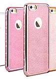 Чехол со стразами розовый сияющий 6/6S iPhone, фото 8