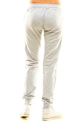 Женские спортивные штаны 406  серые, фото 2