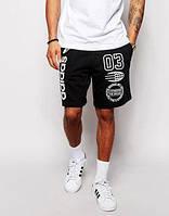 Шорты чёрные стильные | Принт Adidas 03 logo