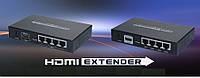 Передатчик видеосигнала 4-е выхода по витой паре HDMI Extender via LAN w/ HUB 4 LAN CAT6 up to 120m, фото 1