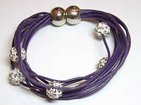 Браслет фиолетовый Шамбала 8_8_30a2