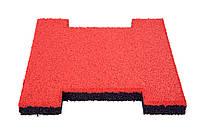 Резиновая плитка пазл (цветная зернистая 12 мм)
