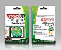 Адаптер переходник флеш карт microSD на CF Extreme Secure Digital to CompactFlash SD to CF 2 входа, фото 1