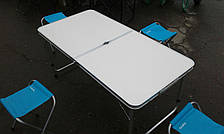 Стол складной туристический для пикника + 4 стула. Стол-чемодан, фото 2